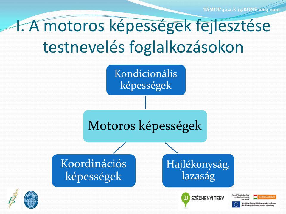 I. A motoros képességek fejlesztése testnevelés foglalkozásokon