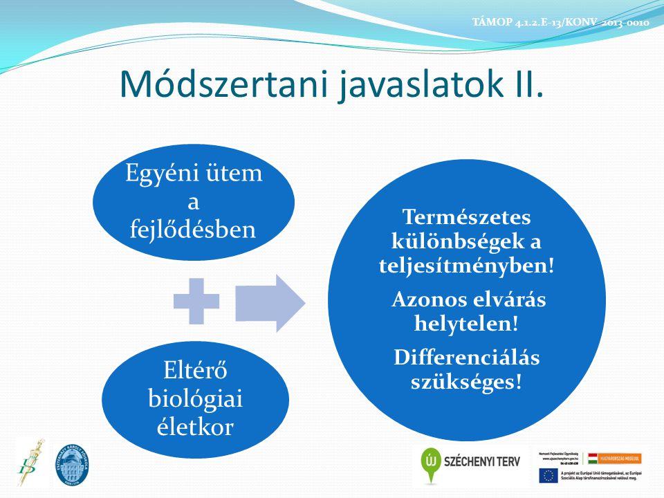 Módszertani javaslatok II.