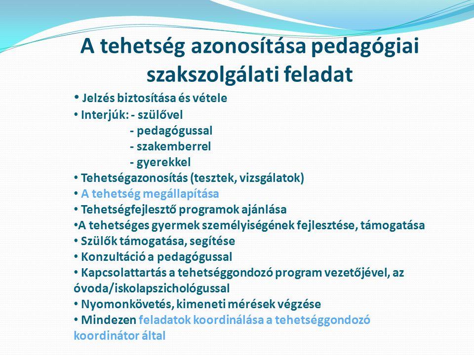 A tehetség azonosítása pedagógiai szakszolgálati feladat
