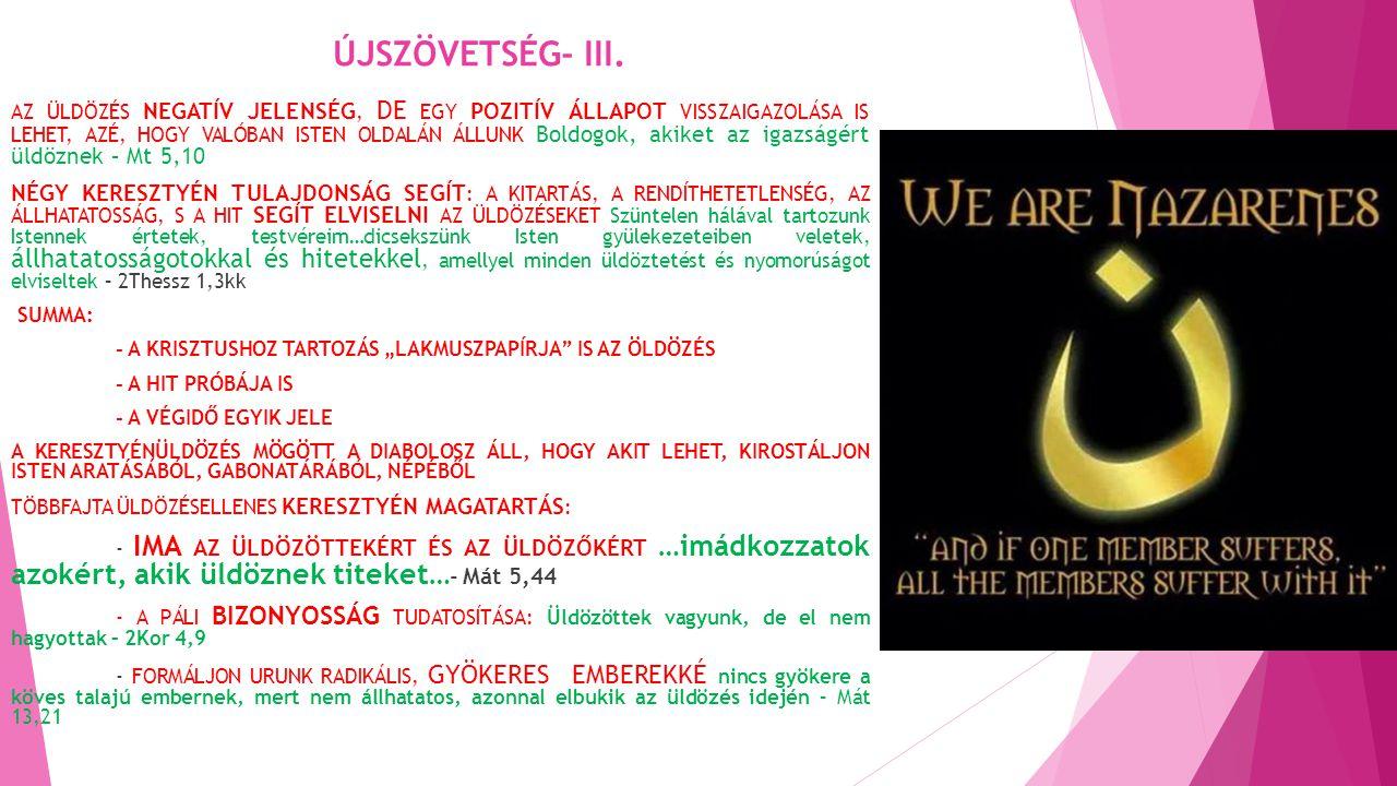 ÚJSZÖVETSÉG- III.