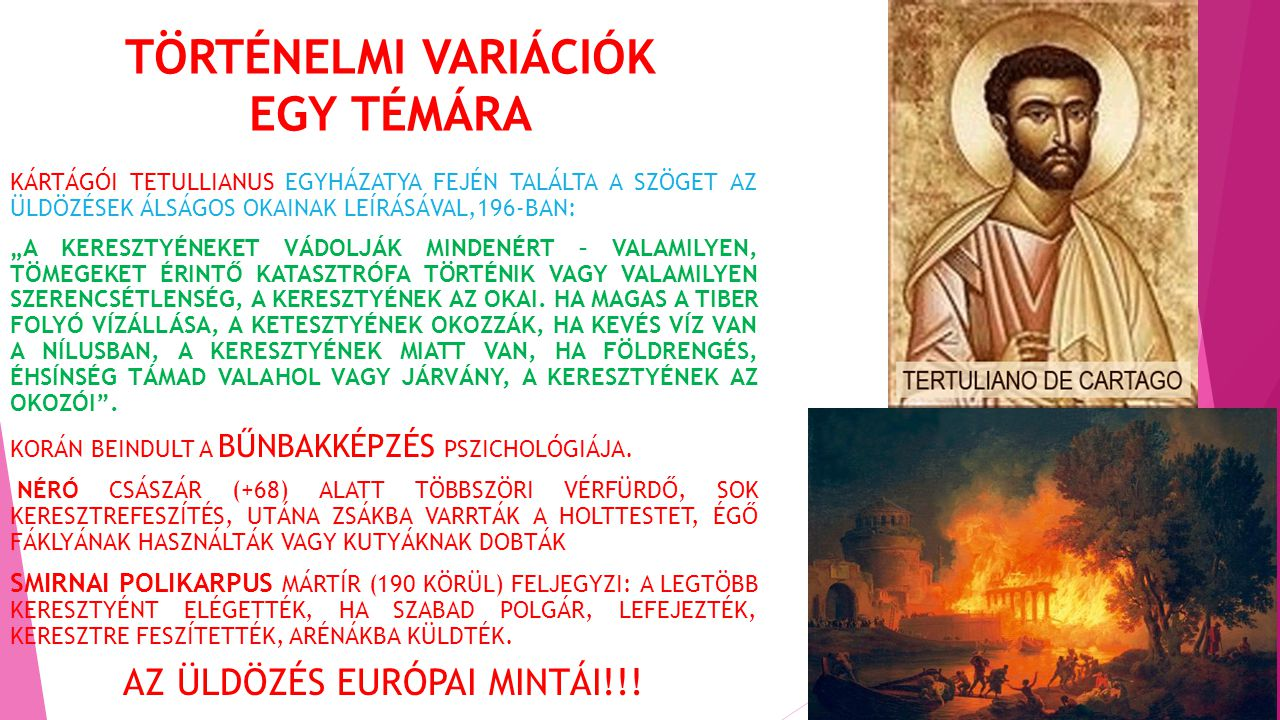 TÖRTÉNELMI VARIÁCIÓK EGY TÉMÁRA
