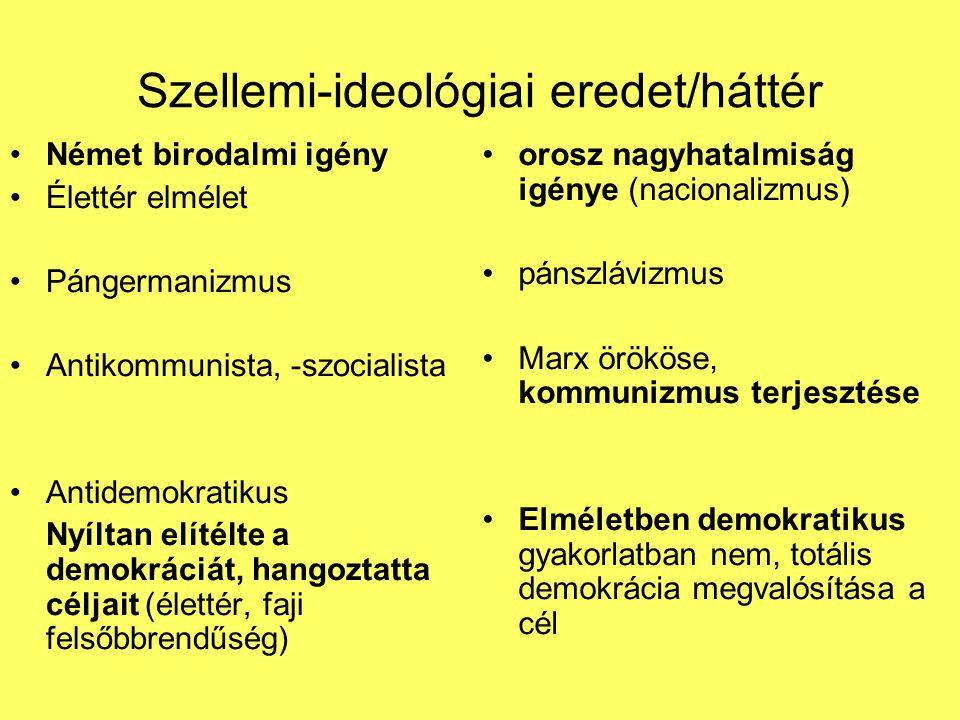 Szellemi-ideológiai eredet/háttér