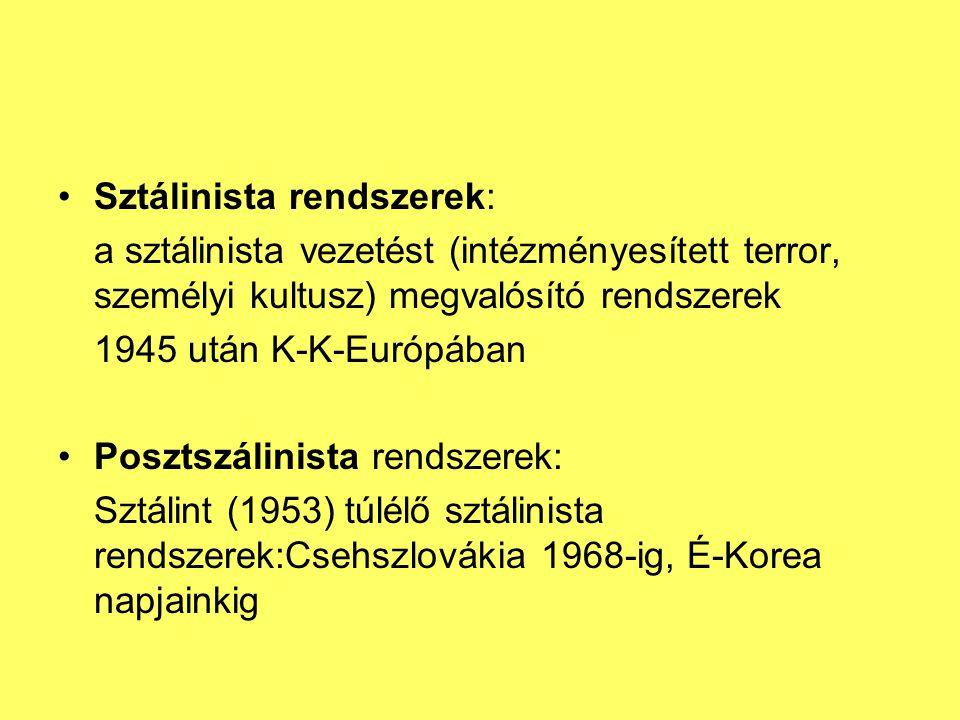 Sztálinista rendszerek: