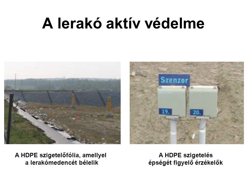 A HDPE szigetelőfólia, amellyel a lerakómedencét bélelik