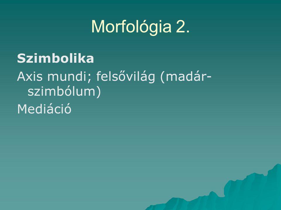 Morfológia 2. Szimbolika Axis mundi; felsővilág (madár-szimbólum)
