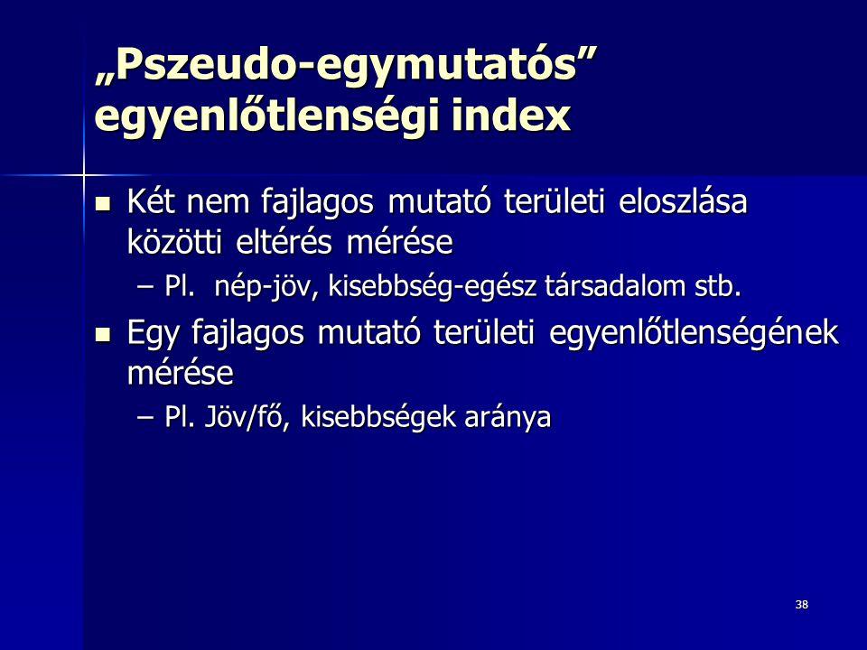 """""""Pszeudo-egymutatós egyenlőtlenségi index"""