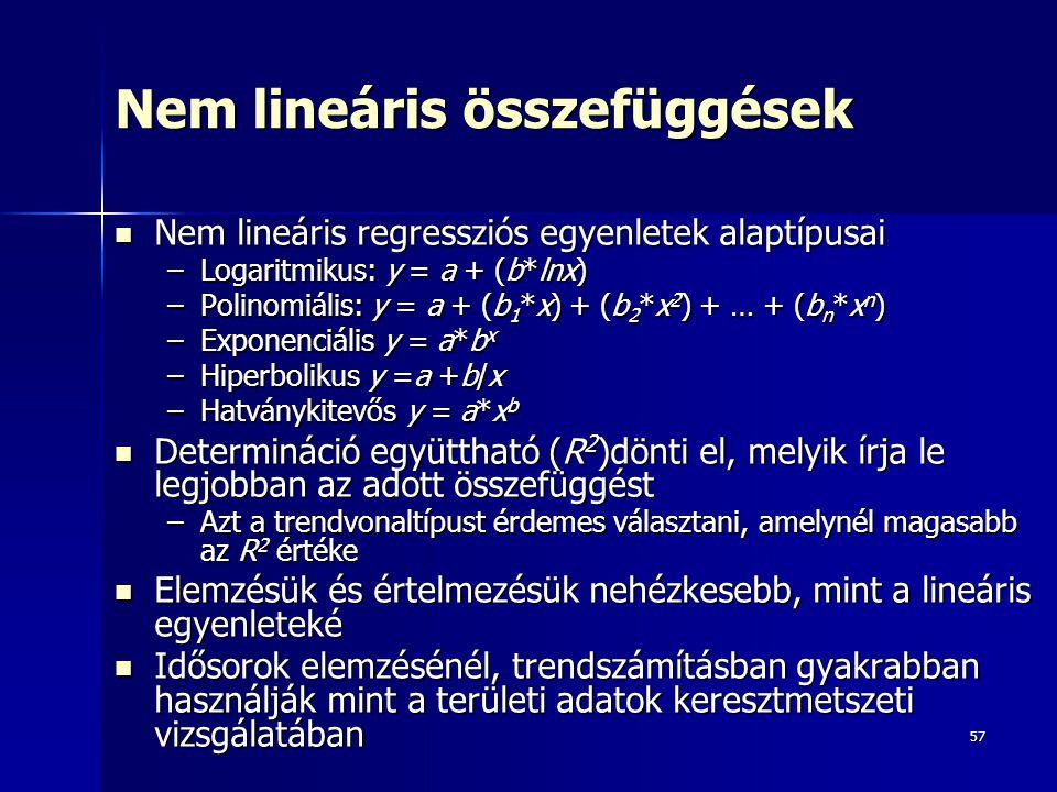 Nem lineáris összefüggések
