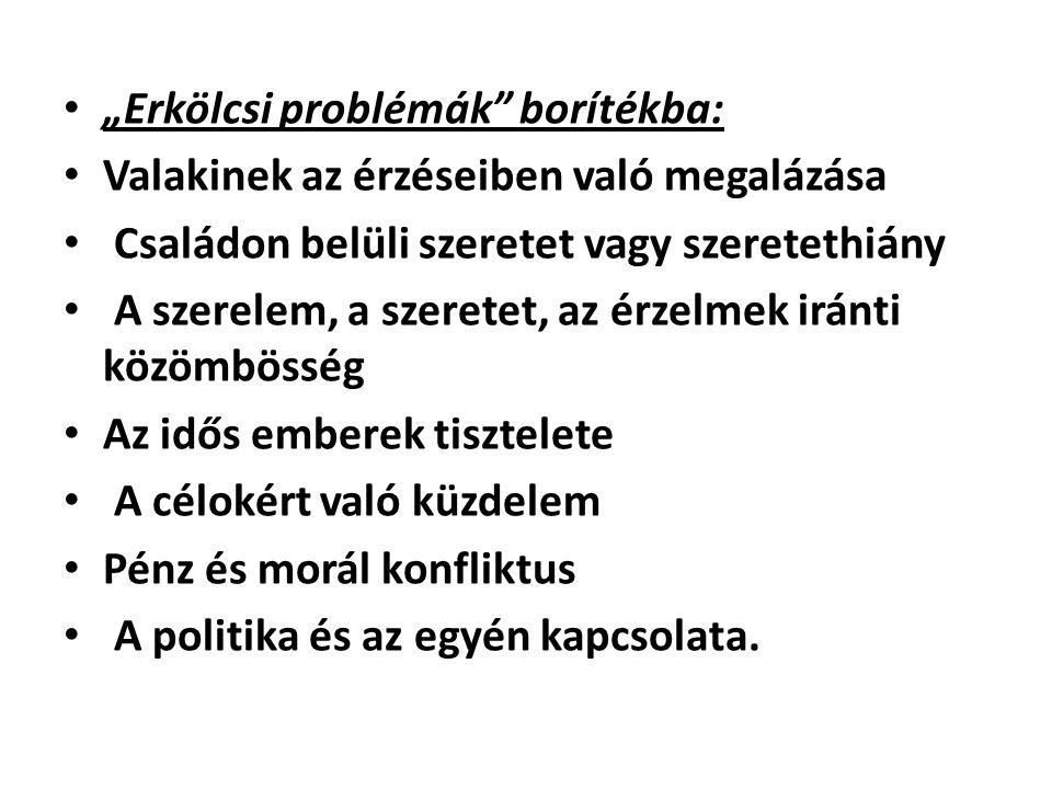 """""""Erkölcsi problémák borítékba:"""