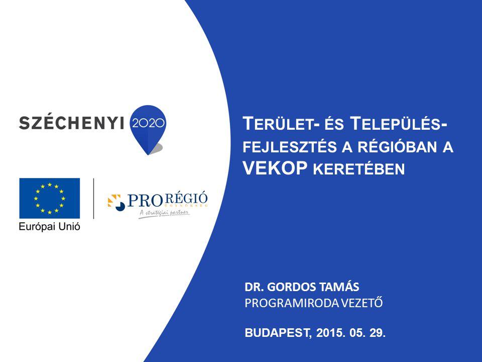 Dr. Gordos Tamás programiroda vezető Budapest, 2015. 05. 29.
