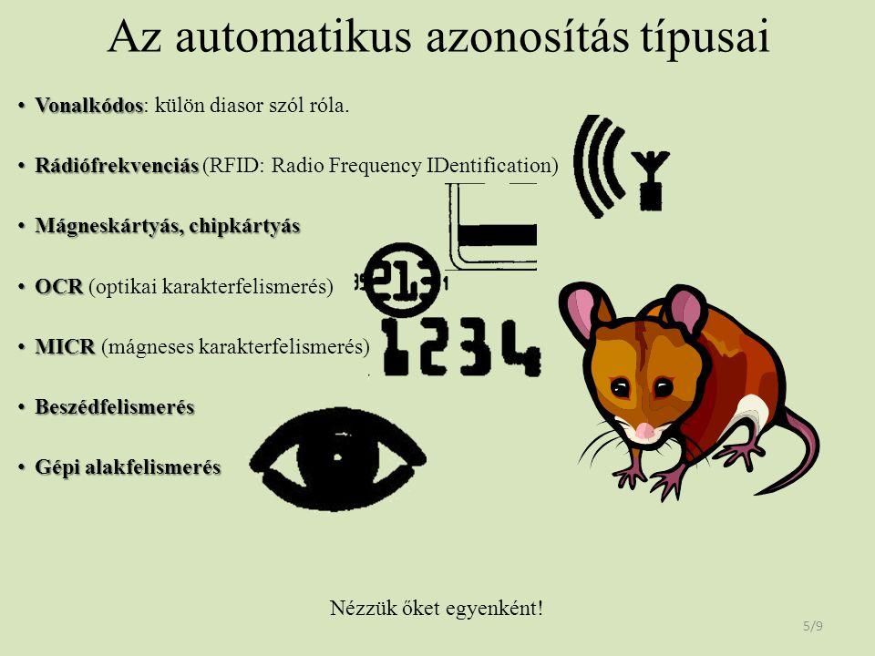 Az automatikus azonosítás típusai
