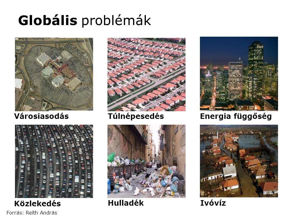 Globális problémák Városiasodás Túlnépesedés Energia függőség