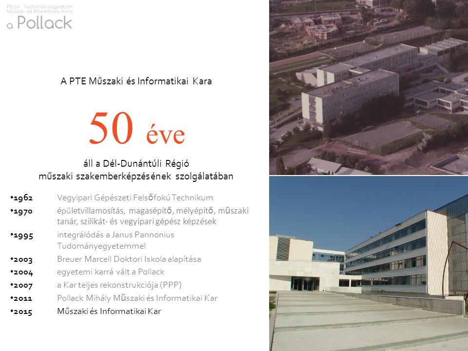 50 éve A PTE Műszaki és Informatikai Kara