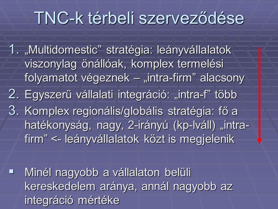 TNC-k térbeli szerveződése