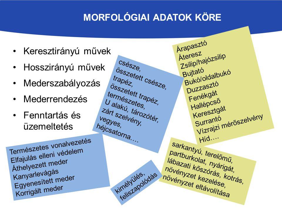 morfológiai adatok köre