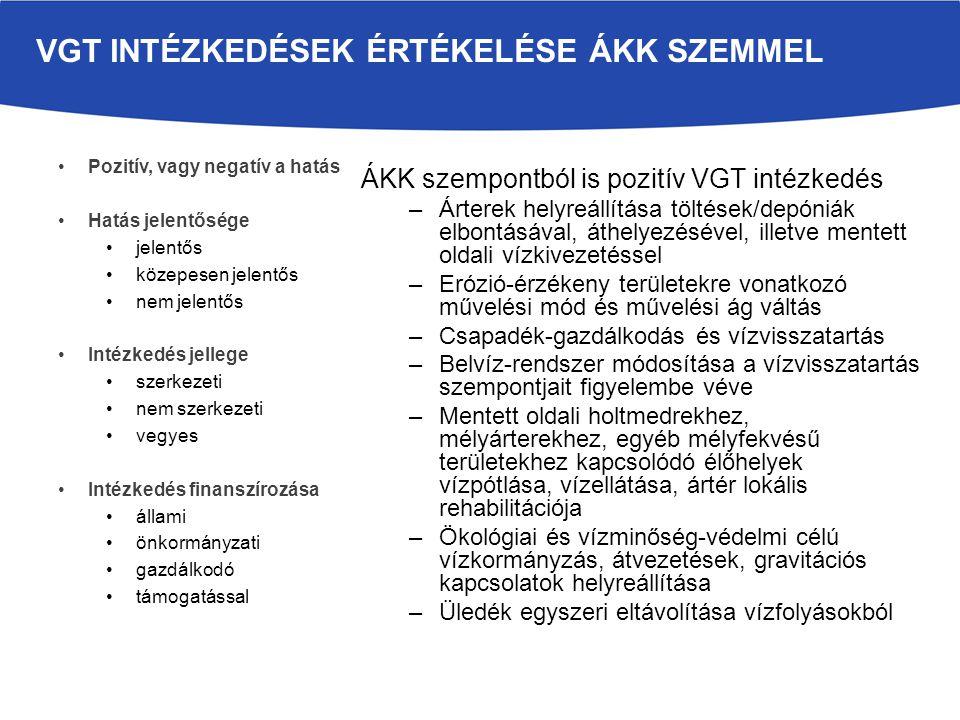 VGT intézkedések értékelése ÁKK szemmel