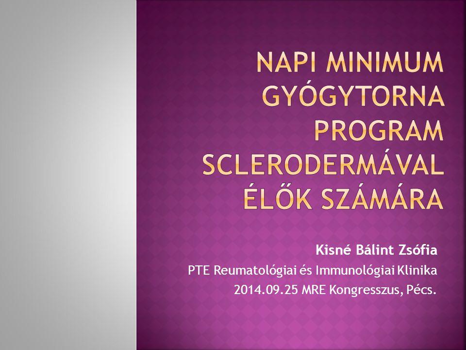 Napi minimum gyógytorna program sclerodermával élők számára