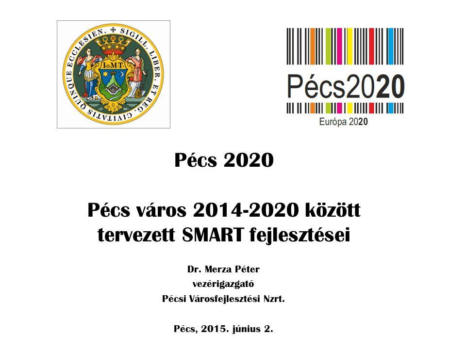 Pécs 2020 Pécs város 2014-2020 között tervezett SMART fejlesztései