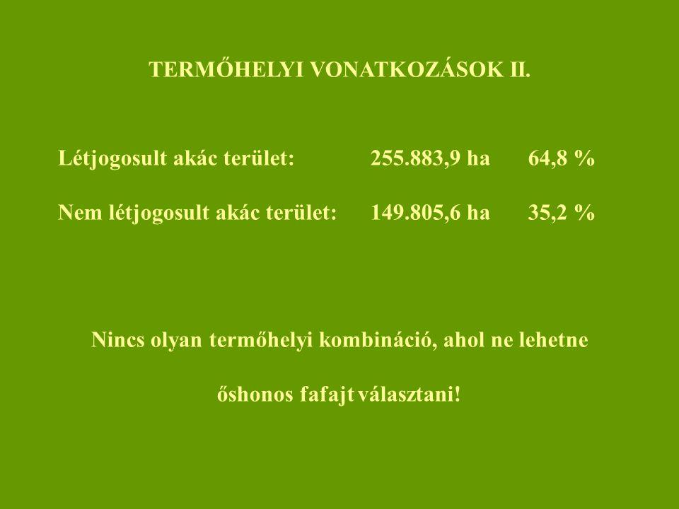 TERMŐHELYI VONATKOZÁSOK II.