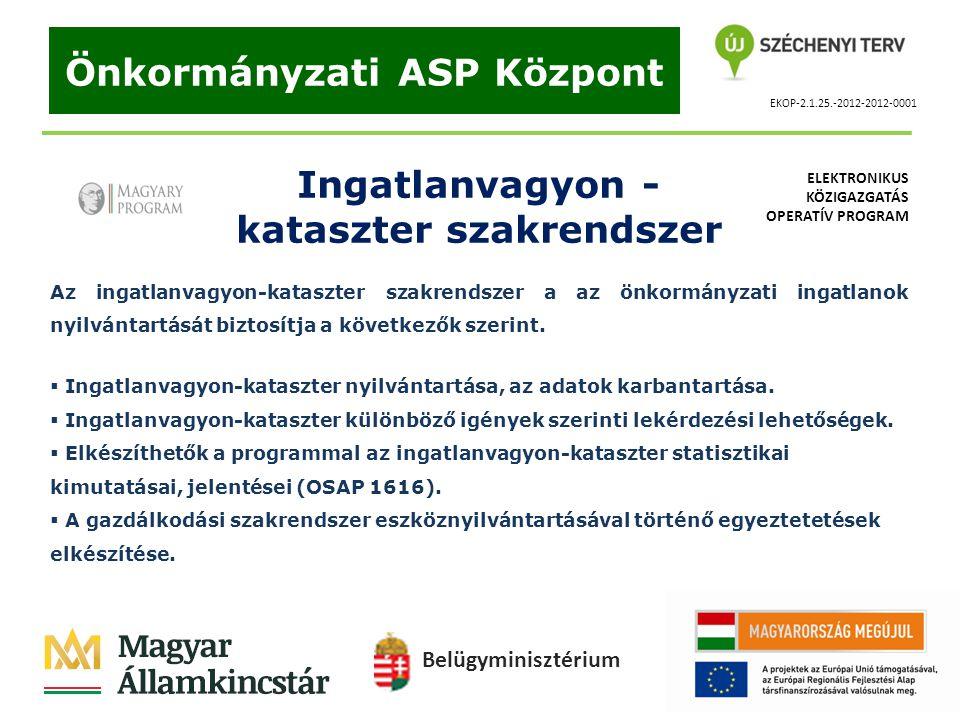 Önkormányzati ASP Központ kataszter szakrendszer