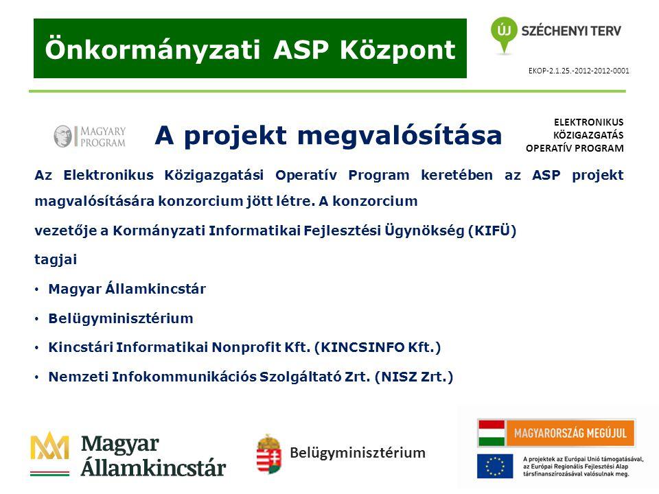 Önkormányzati ASP Központ A projekt megvalósítása