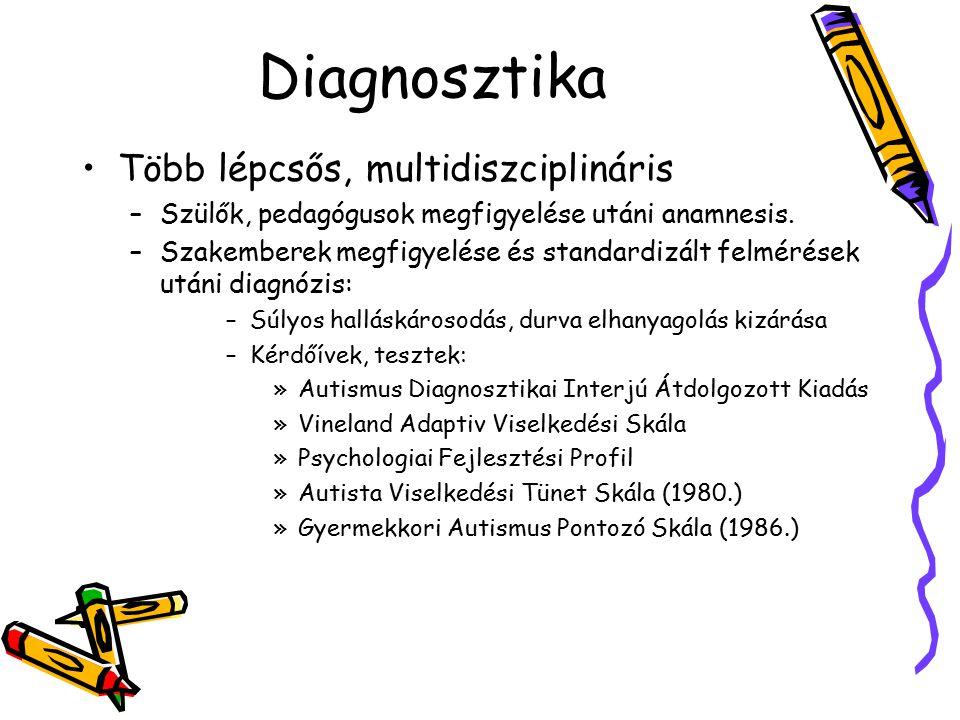 Diagnosztika Több lépcsős, multidiszciplináris