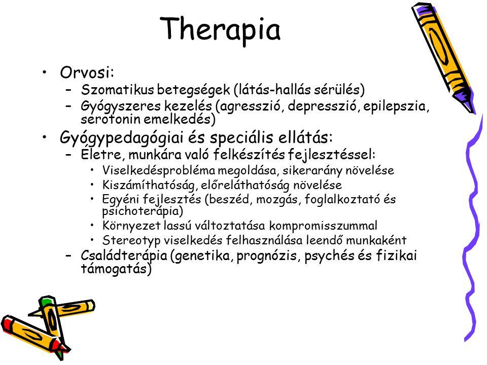 Therapia Orvosi: Gyógypedagógiai és speciális ellátás: