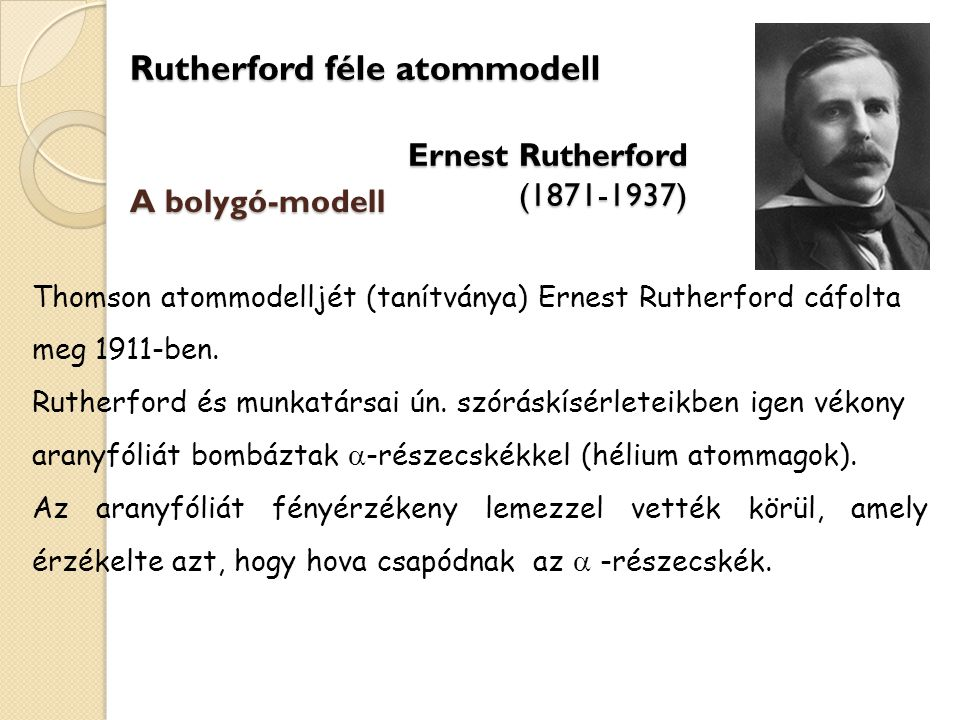 Rutherford féle atommodell