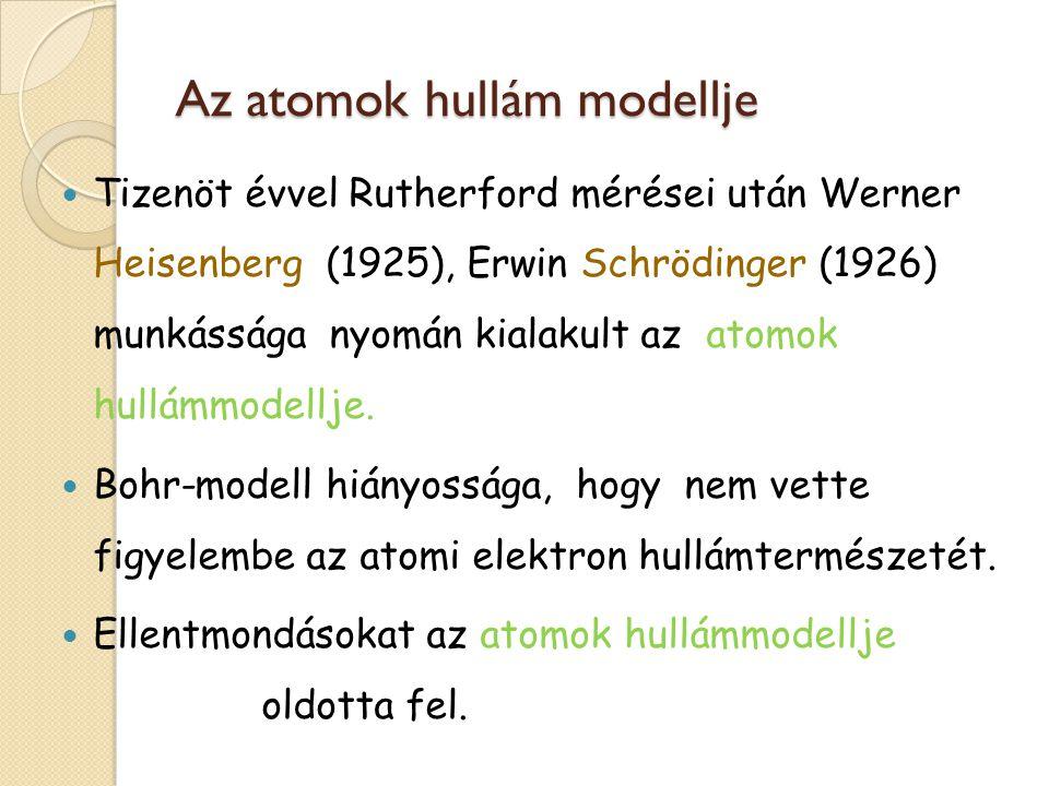 Az atomok hullám modellje