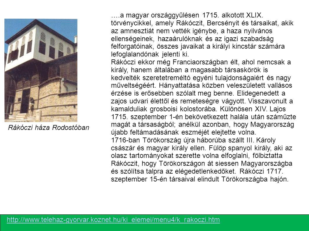 …. a magyar országgyűlésen 1715. alkotott XLIX