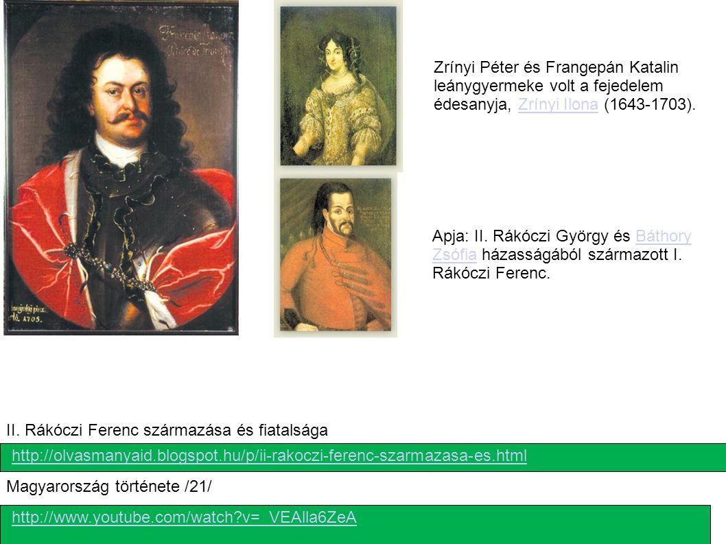 II. Rákóczi Ferenc származása és fiatalsága