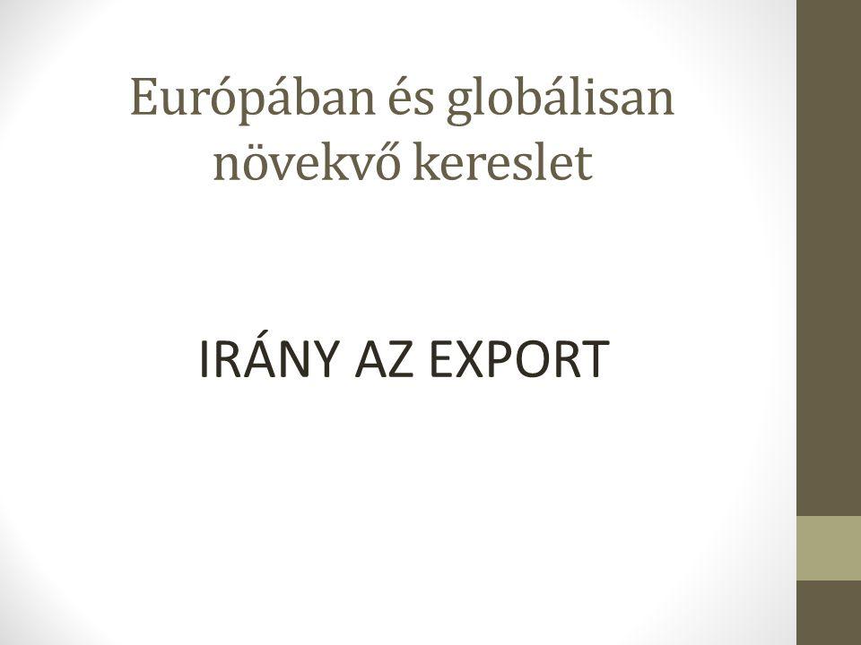 Európában és globálisan növekvő kereslet