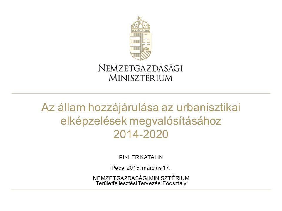 Az állam hozzájárulása az urbanisztikai elképzelések megvalósításához 2014-2020