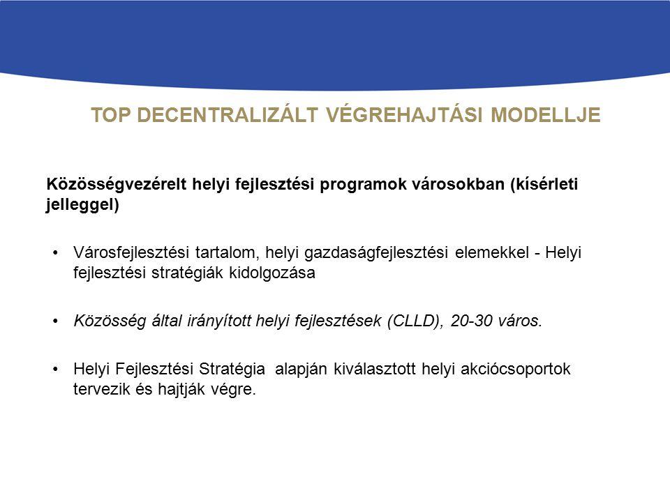 TOP DECENTRALIZÁLT VÉGREHAJTÁSI MODELLJE