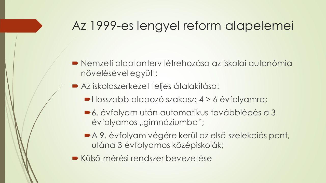 Az 1999-es lengyel reform alapelemei