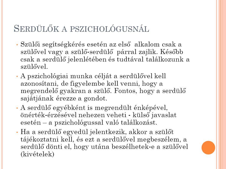 Serdülők a pszichológusnál