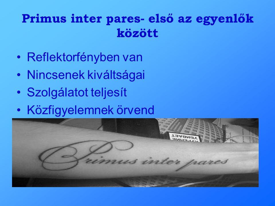 Primus inter pares- első az egyenlők között