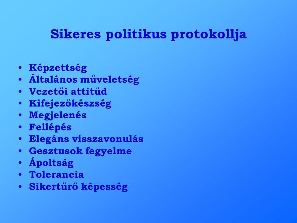 Sikeres politikus protokollja