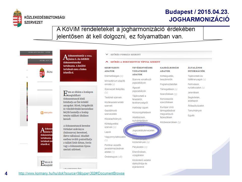 A KöViM rendeleteket a jogharmonizáció érdekében