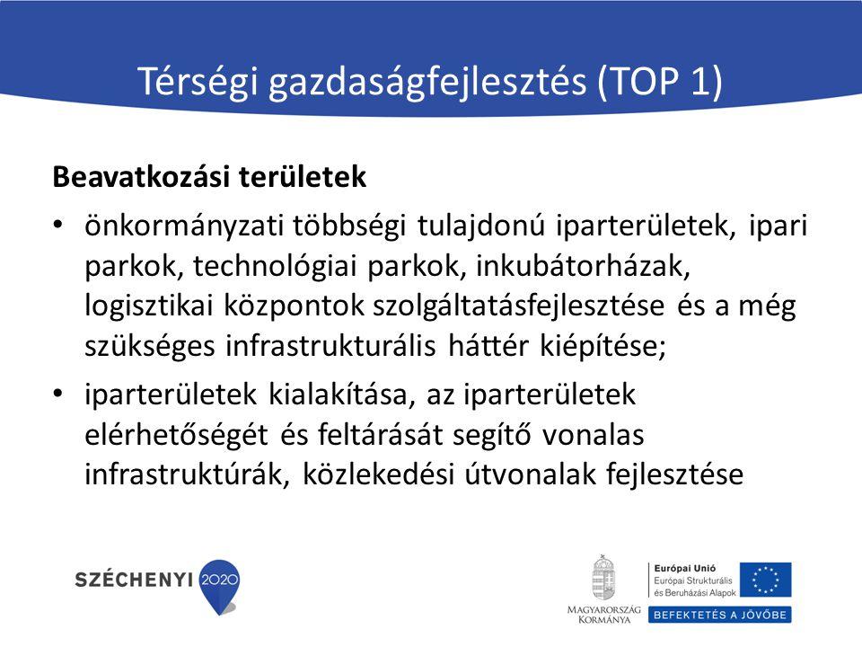 Térségi gazdaságfejlesztés (TOP 1)
