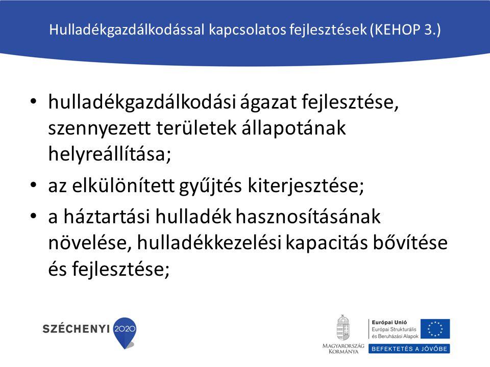 Hulladékgazdálkodással kapcsolatos fejlesztések (KEHOP 3.)