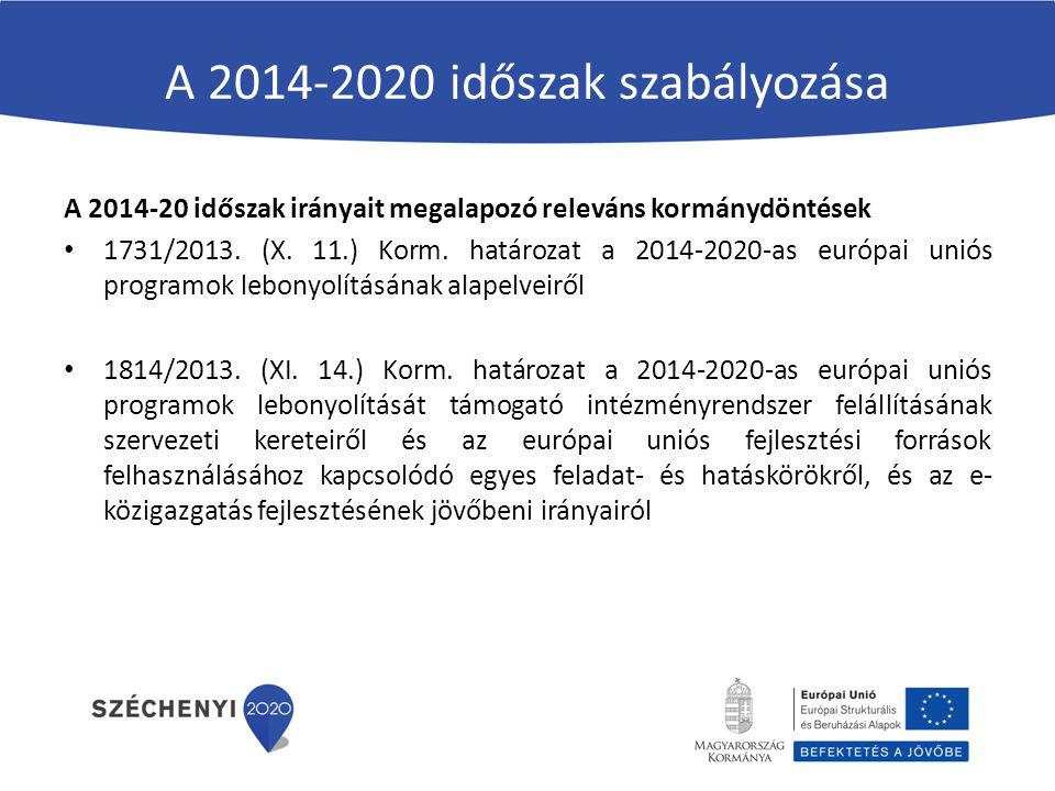 A 2014-2020 időszak szabályozása