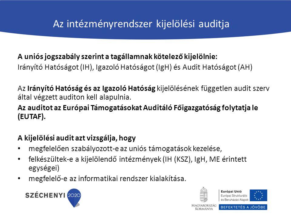 Az intézményrendszer kijelölési auditja