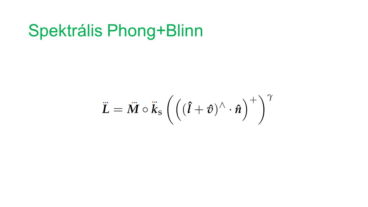 Spektrális Phong+Blinn