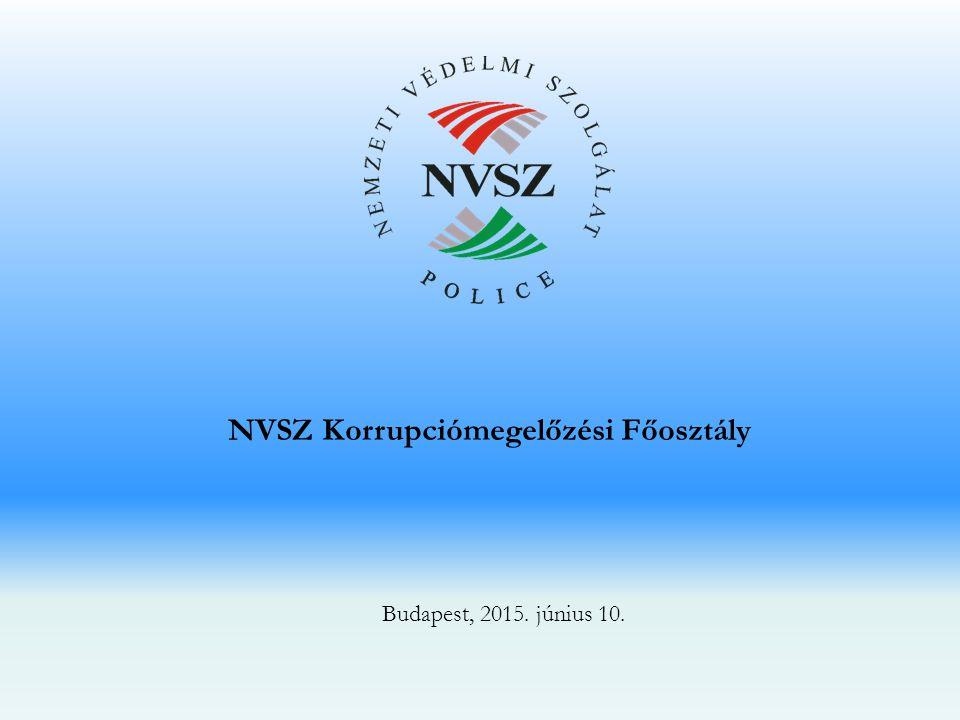 NVSZ Korrupciómegelőzési Főosztály