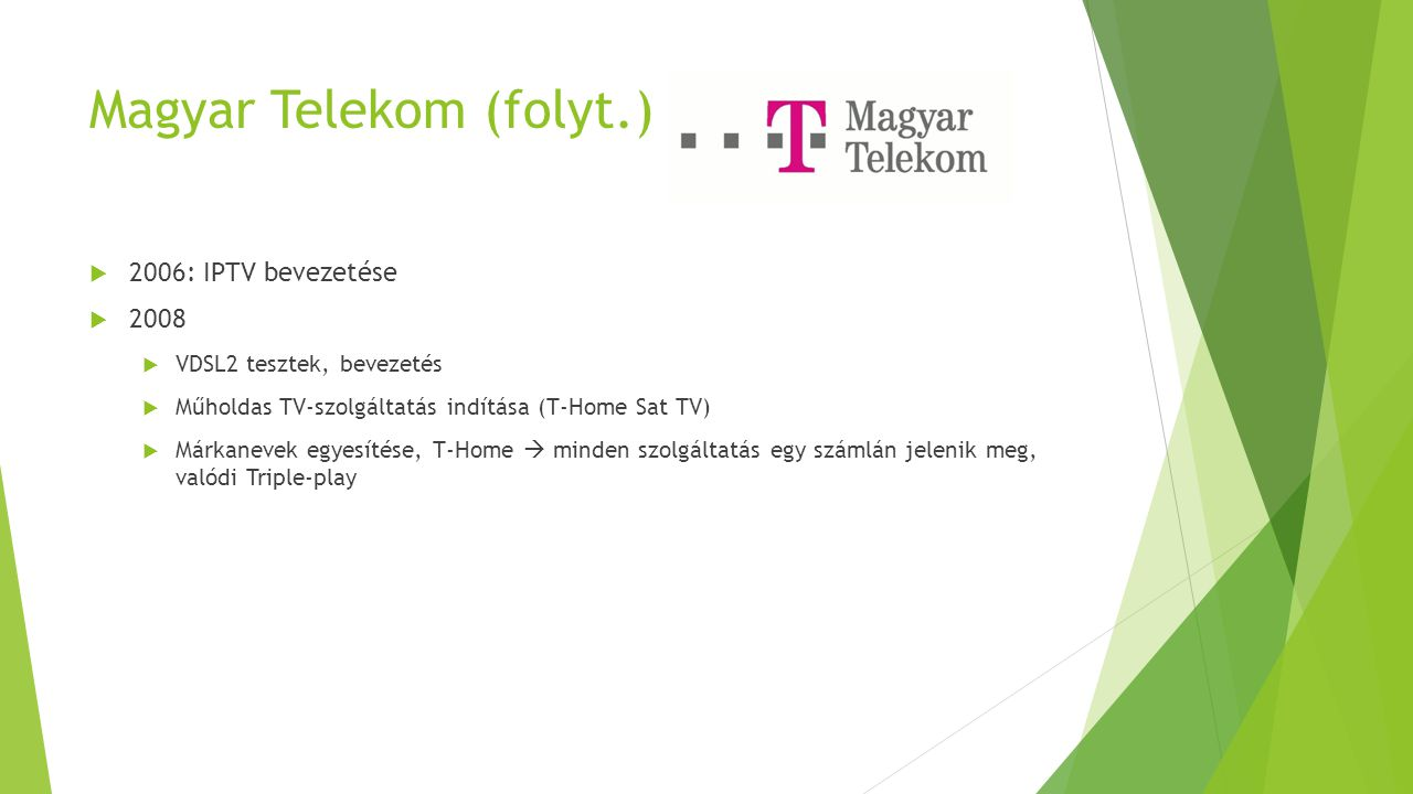 Magyar Telekom (folyt.)