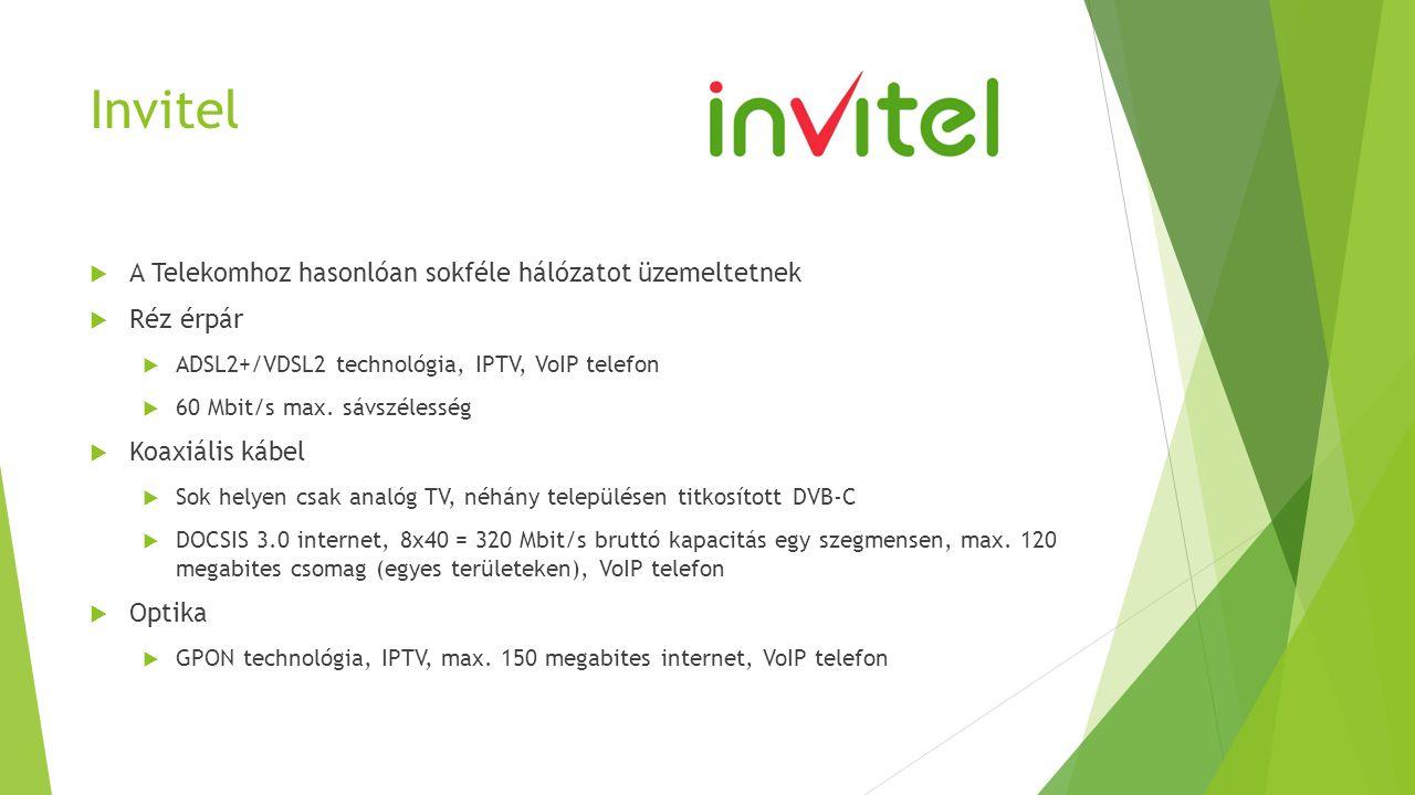 Invitel A Telekomhoz hasonlóan sokféle hálózatot üzemeltetnek