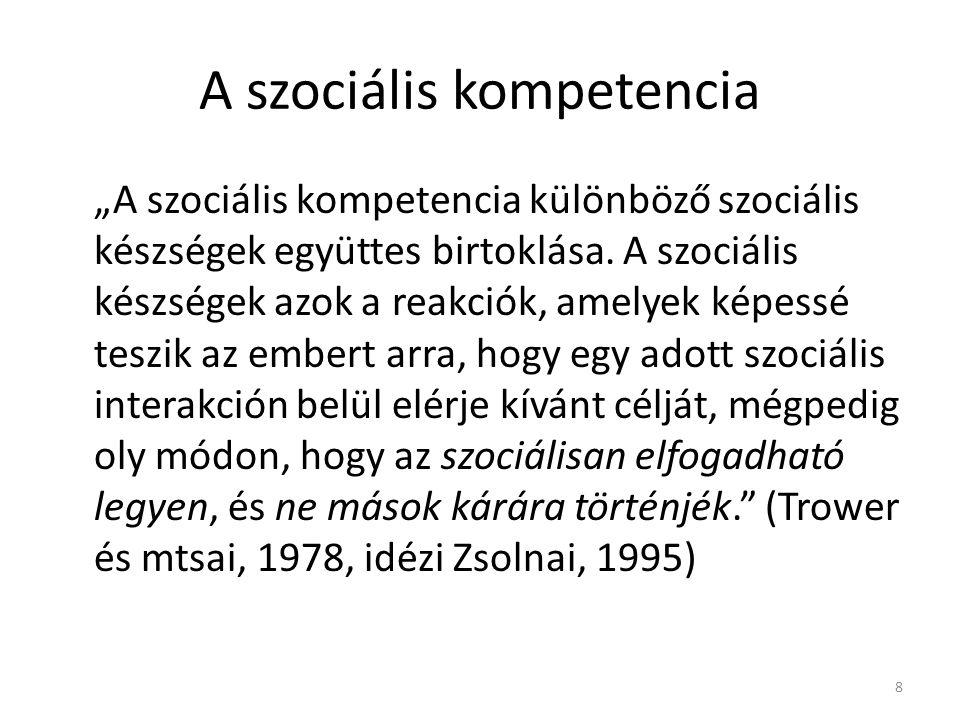A szociális kompetencia
