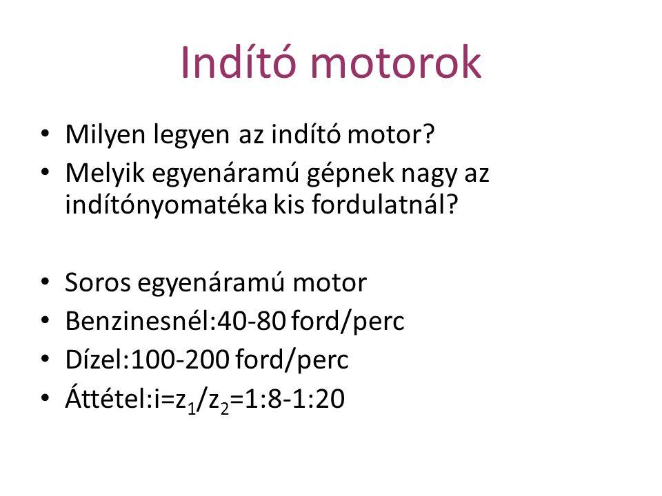 Indító motorok Milyen legyen az indító motor