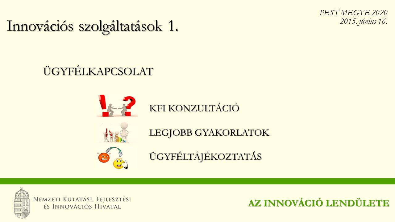 Innovációs szolgáltatások 1.
