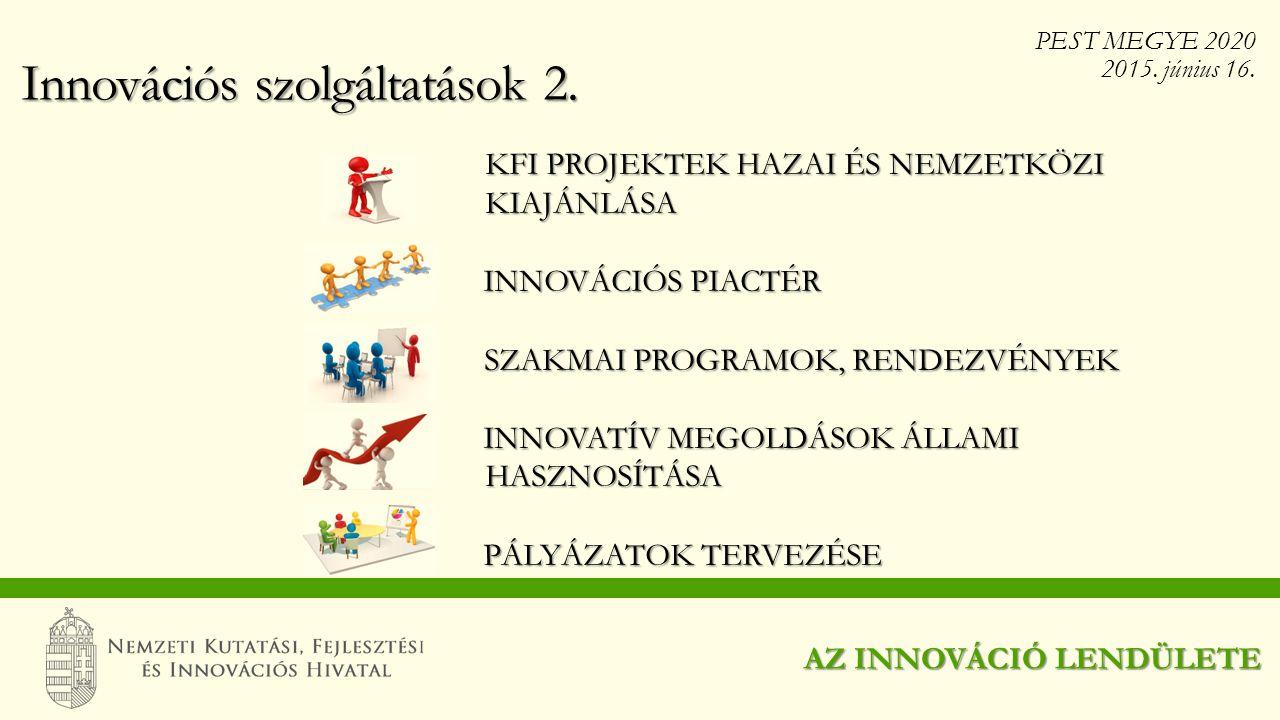Innovációs szolgáltatások 2.